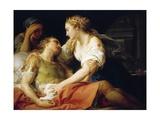 Death of Mark Antony, 1763 Giclée-tryk af Pompeo Batoni