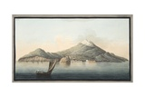 View of the Island of Ischia from the Sea Giclee Print by Pietro Fabris