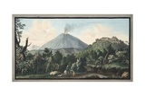 View of the Monte S. Angelo on Which There Is a Convent of Camaldolefi Monks Giclee Print by Pietro Fabris