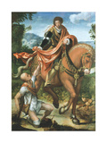 Saint Martin Dividing His Cloak Giclee Print by Pieter Coecke van Aelst