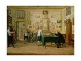 Fencing Scene at the Neopolitan Residence of Kenneth Mackenzie (1744-81) 1st Earl of Seaforth, 1771 Giclee Print by Pietro Fabris