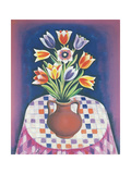 Still Life with Flowers, 1967 Giclee Print by Radi Nedelchev