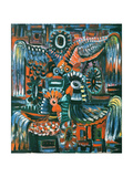 Roosters, 1967 Giclee Print by Radi Nedelchev