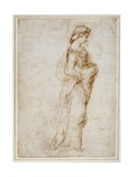 Female Figure Walking to Right Giclee Print by  Raphael