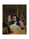 Masked Party in a Courtyard, 1755 Giclee Print by Pietro Longhi