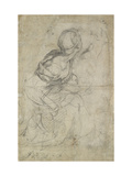 Studies for Two Kneeling Women Giclee Print by  Raphael