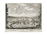 Fountain and Water Jets in a Dutch Formal Garden Giclee Print by Pieter Schenk