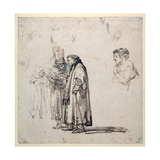 A Group of Elderly Scholars And Giclee Print by  Rembrandt van Rijn