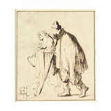 Vagrant Couple with a Dog Giclee Print by  Rembrandt van Rijn