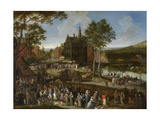 Flemish Fair, 1687 Giclee Print by Pieter Gysels