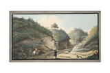 View of a Hollow Road Leading from the Grotto of Pausilipo to Pianura Giclee Print by Pietro Fabris