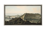 View from the Top of Monte Gauro or Barbaro into its Crater Giclee Print by Pietro Fabris