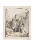Abraham and Isaac, 1645 Giclee Print by  Rembrandt van Rijn
