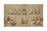 Christ and the Saints in Glory (Study for the Disputa) Impression giclée par  Raphael