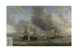 The Battle of Livorno, C.1653-64 Giclee Print by Reinier Zeeman