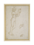 Study of a Young Man Making Music Giclee Print by  Raphael
