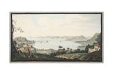 View of the Italian Coast from Near Puzzoli Giclee Print by Pietro Fabris