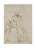 The Virgin and Child with St John Giclee Print by  Raphael
