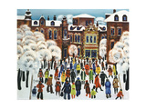 Winter Day in the City, 1975 Giclee Print by Radi Nedelchev