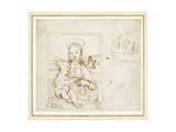 Study for a Picture of the Virgin and Child Giclee Print by  Raphael