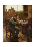 Portrait of Stephen Brownlow, 1892 Giclee Print by Ralph Hedley