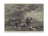 Military Train Crossing the Sands to Elizabeth Castle, Jersey, in the Time of the Civil War Giclee Print by Richard Beavis