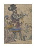 Sketch to Illustrate the Passions: Pride, C.1853-55 (W/C, Pen and Graphite on Paper) Giclee Print by Richard Dadd