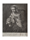 Domestick Employment Knitting (Mezzotint) Giclee Print by Richard Houston