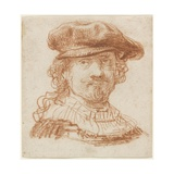 Self-Portrait, C.1637 (Red Chalk) Giclee Print by  Rembrandt van Rijn