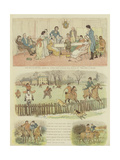 Mr Carlyon's Christmas Giclee Print by Randolph Caldecott