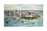A Bird's Eye View of Lower Manhattan, 1911 Giclee Print by Richard Rummell