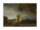 Landscape with a Stone Bridge, C.1638 Giclee Print by  Rembrandt van Rijn