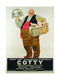 Poster Advertising the 'Cotty Moving Co.' Giclée-Druck von Rene Vincent