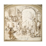 Christ Mocked Giclee Print by  Rembrandt van Rijn