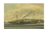 The Hudson River Steamboat, 'Clermont', C.1858 Giclee Print by Richard Varick De Witt