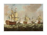 A Naval Engagement Giclee Print by Richard Paton