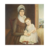 Mrs. Daniel Truman and Child, C.1798-1810 Giclee Print by Reuben Moulthrop