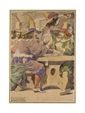 Gaming, Sketch Illustrating the Passions, 1853 Giclee Print by Richard Dadd