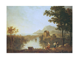 Extensive Coastal Landscape at Evening Giclee Print by Richard Wilson