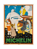 Advertising Poster for Michelin, C. 1925 Giclee Print by Rene Vincent