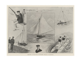 Sketches at the Naval Volunteers' Regatta at Brighton Giclee Print by Ralph Cleaver