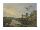 Italian Landscape (Morning), C.1760-65 Giclee Print by Richard Wilson