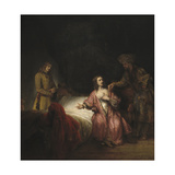 Joseph Accused by Potiphar's Wife, 1655 Giclee Print by  Rembrandt van Rijn