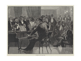 A Meeting of the Lyric Club Giclee Print by Richard Caton Woodville II