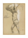 Man Carrying a Bundle, 1870s-1880s Giclee Print by Richard Beavis