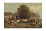 The Farm Sale, 1820 Giclee Print by Richard Barrett Davis