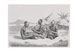 Shuli Negroes Playing Music Giclee Print by Richard Buchta