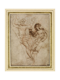 Psyche Presenting to Venus the Vase of Proserpine (Pen and Brown Ink over Red Chalk on Brownish Pap Impression giclée par  Raphael