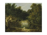 View of the Wilderness in St. James's Park, London, C.1770-75 Giclee Print by Richard Wilson
