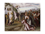 Moses Presenting the Ten Commandments Impression giclée par  Raphael